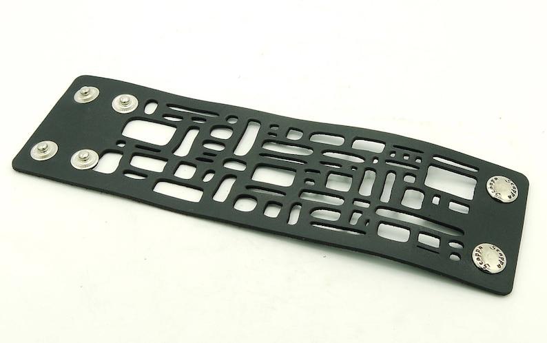 gothic jewelry black leather bracelet Laser cut leather bracelet V-3124 Boho bracelet statement bracelet