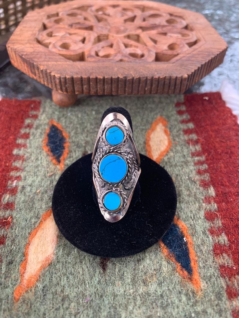 Vintage Authentic Peruvian handmade art  hippie boho ring jewelry