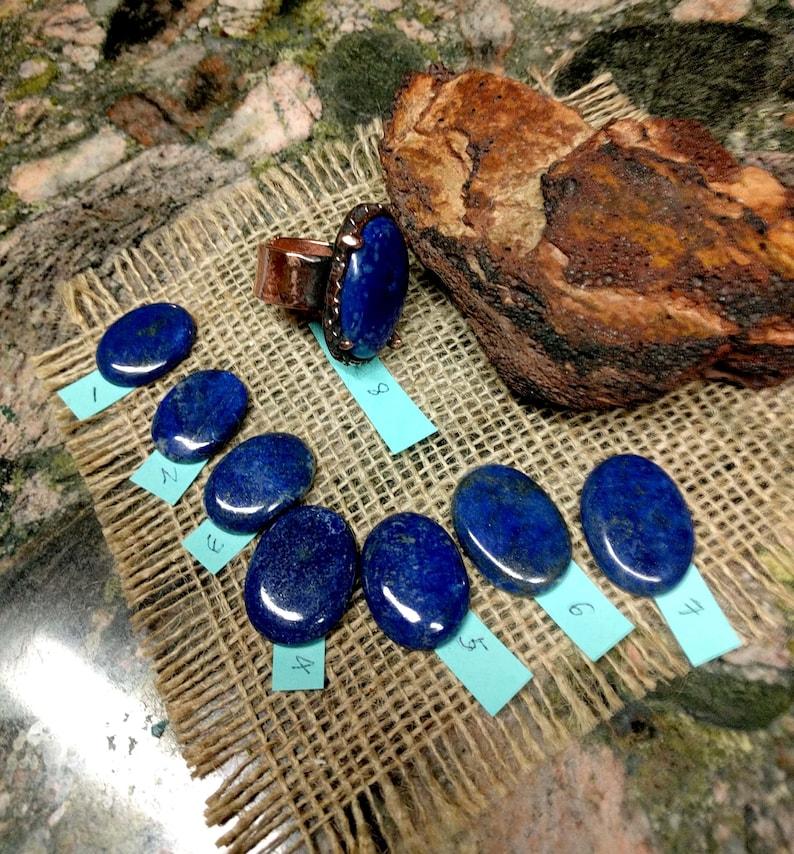 Blue Lapis Copper Cuff Ring.