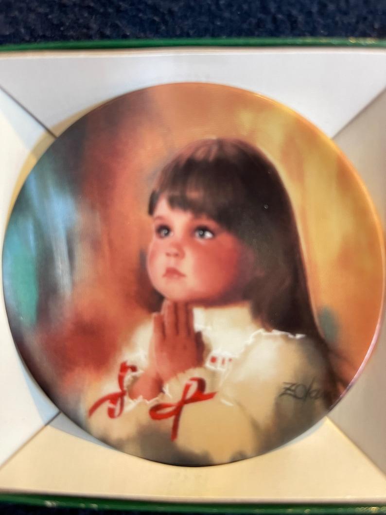 Vintage Miniature Zolan Plate \u201cA Christmas Prayer \u201c