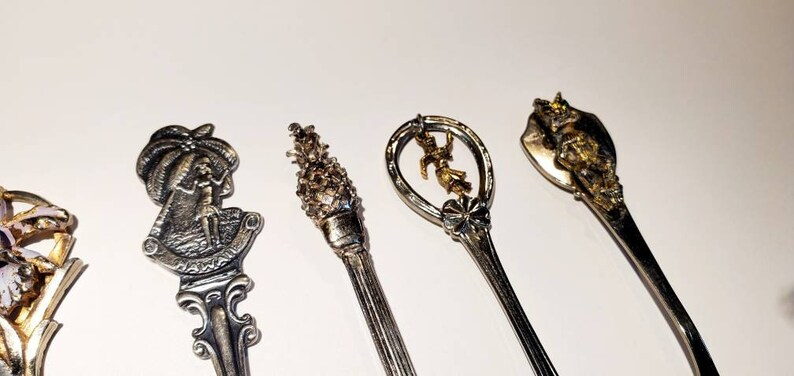 Hawaii Souvenir Spoons Lot of 5 Silverplated and Stainless Steel