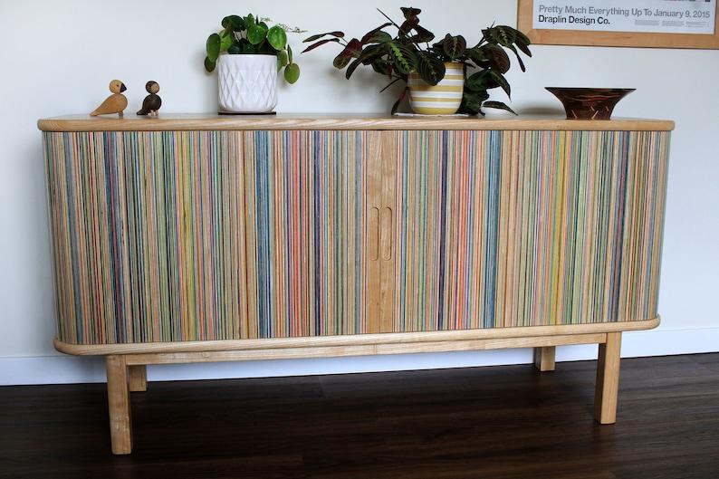 mid century wood credenza
