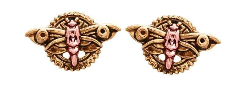 EN5 Magradore/'s Moth Earrings Engineerium range by Anne Stokes