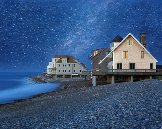 A Night At Egypt Beach Scituate Ma Night Photography Beach Etsy