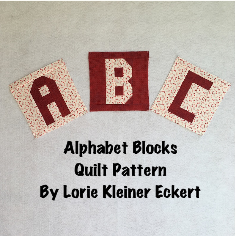 Alphabet Blocks Quilt Pattern Instant Download Quilt image 0