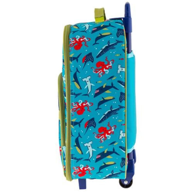 Stephen Joseph Boys Shark Suitcase Children/'s Rolling Luggage Personalized Rolling Luggage for Boys Toddler Travel Bag
