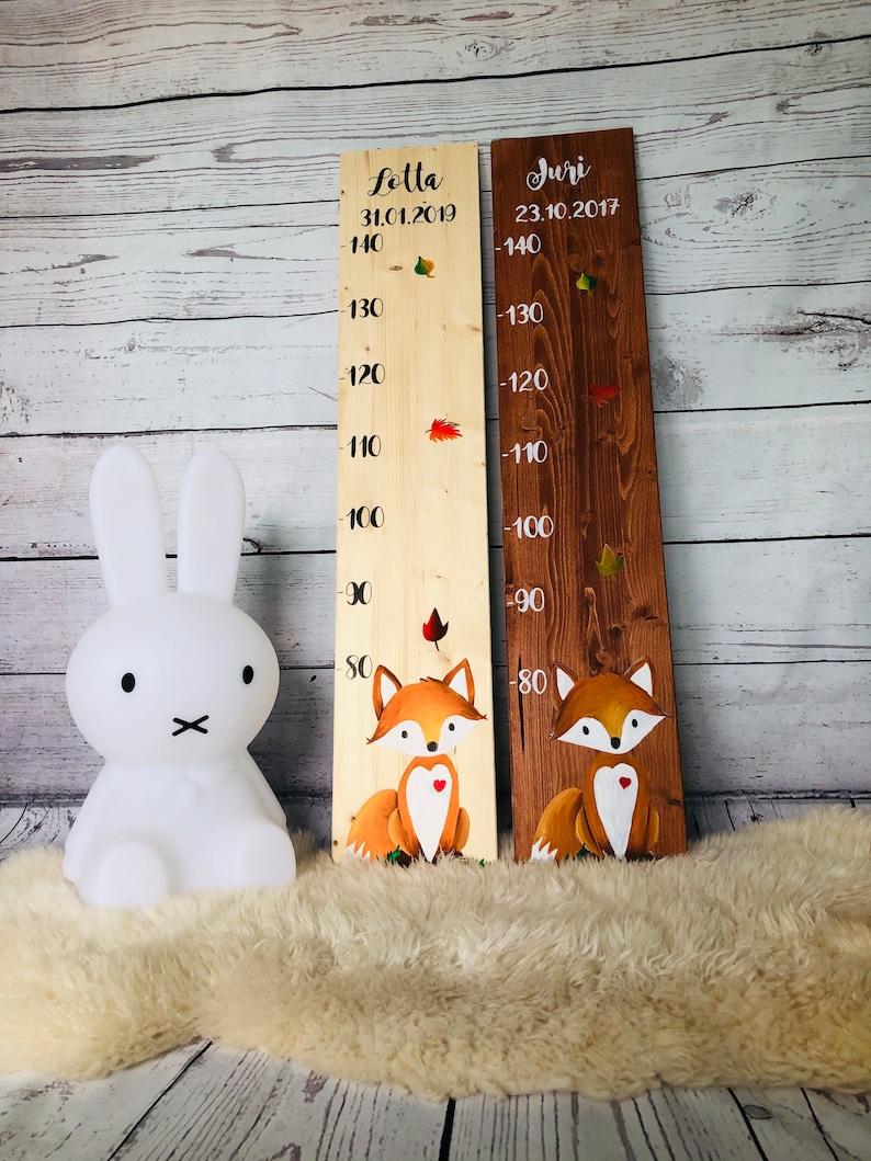 Messlatte Messleiste für Kinder aus Holz personalisiert