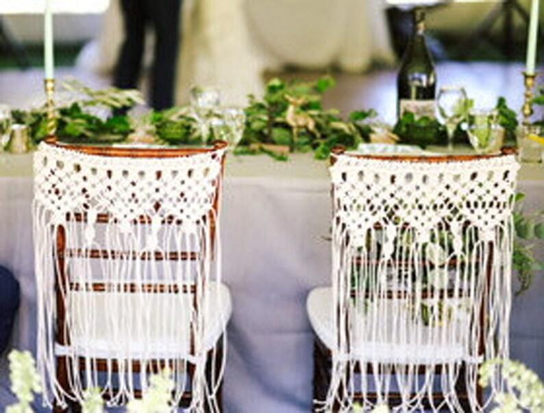 Macrame Wedding Chair Back Bohemian  Decor Boholife Boho image 0