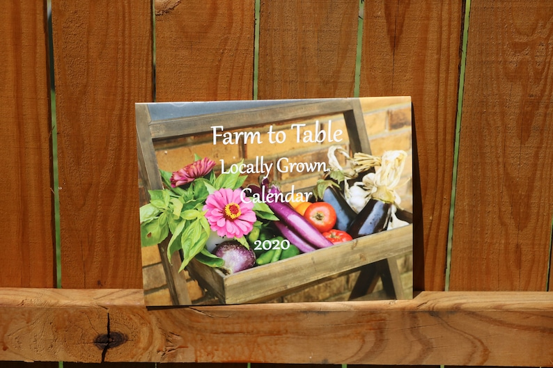 Farmers Market 2020 Wall Calendar:  Farm to Table Monthly image 0