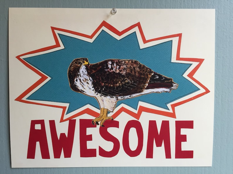 Awesome Hawk Art Print image 0