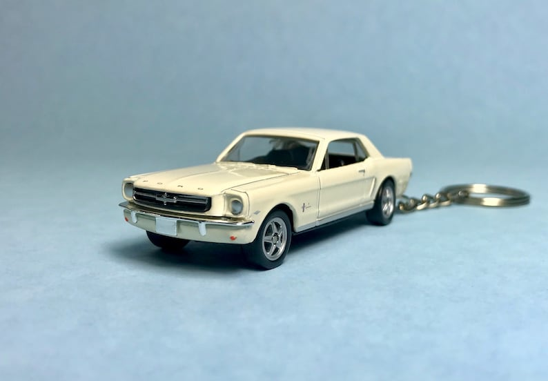 1965 Ford Mustang Novelty keychain made from 164 scale die cast model car