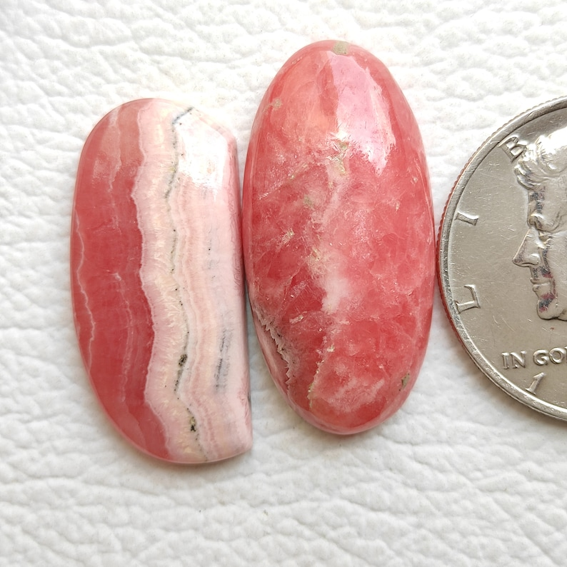 Rare Natural Good Quality Designer Rhodochrosite Cabochon Unique Gemstone for ring and Jewelry 2pcs Pink Rhodochrosite Smooth Polished R1342