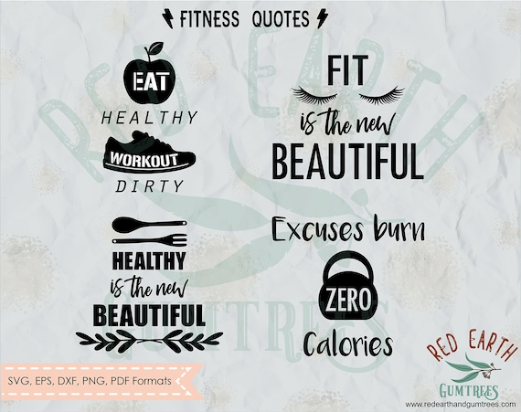 Gym Quotes Workout Bundle Fitness Workout Quotes Svg Png Etsy