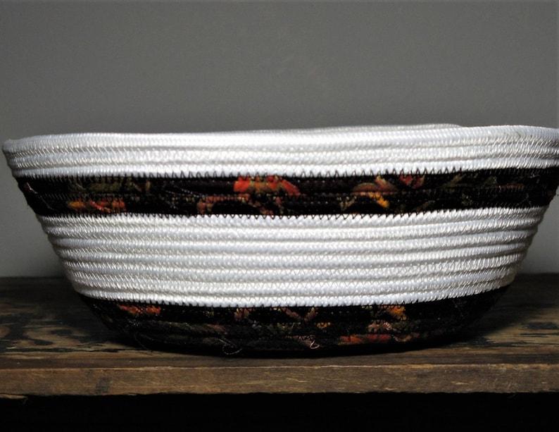 Unique Round Rope Baskets  fruit bowl  Gift Bowls  gift Basket  Brown-Orange-White Bowls