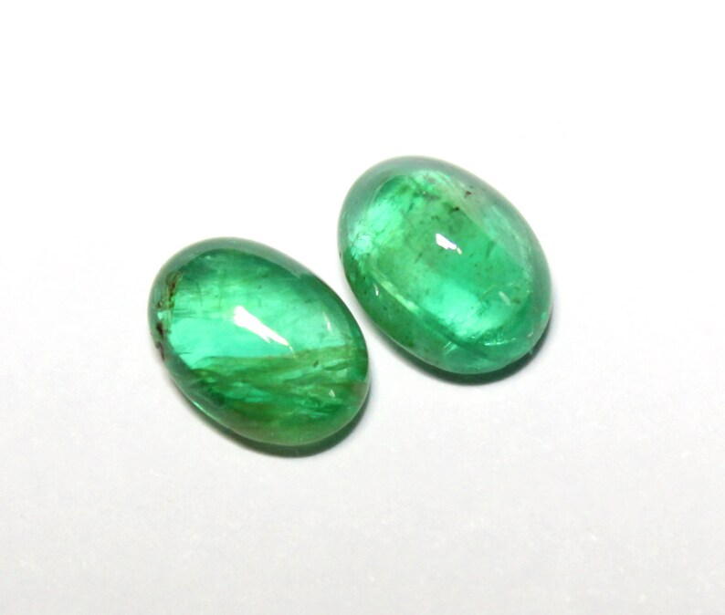 4.5 Cts 100/% Natural Zambian Emerald Oval Shape Cabochon Loose Gemstone 10x7 MM