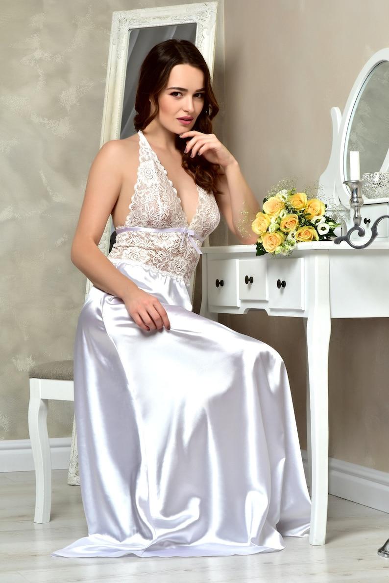 Bridal Satin Slip with Lace Trim