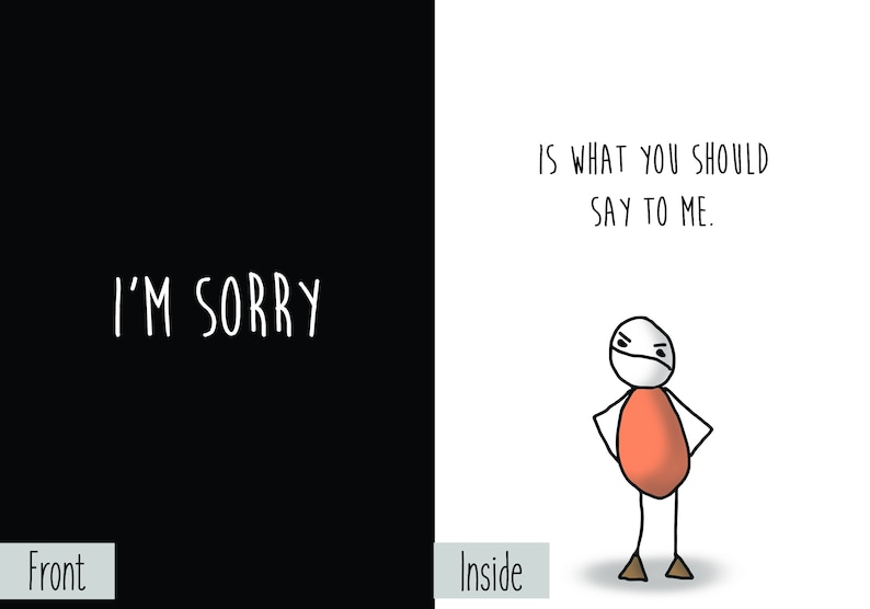 Apology Request: I'm Sorry is What You Should Say to Me image 0