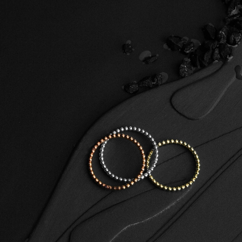 RINGSET of 3 delicate pearlring  ballrings from 925 image 0