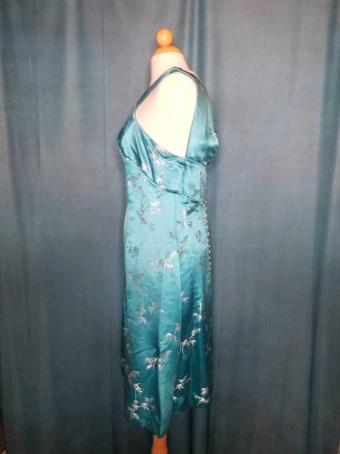 1960's vintage handmade Asian inspired dress