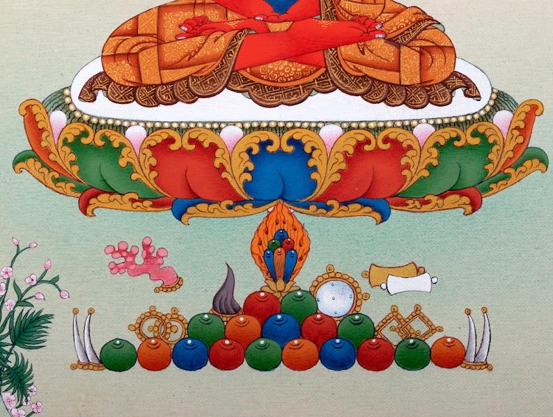 Amitabha Buddha Thangka Hand Painted Tibetan Painting in image 4