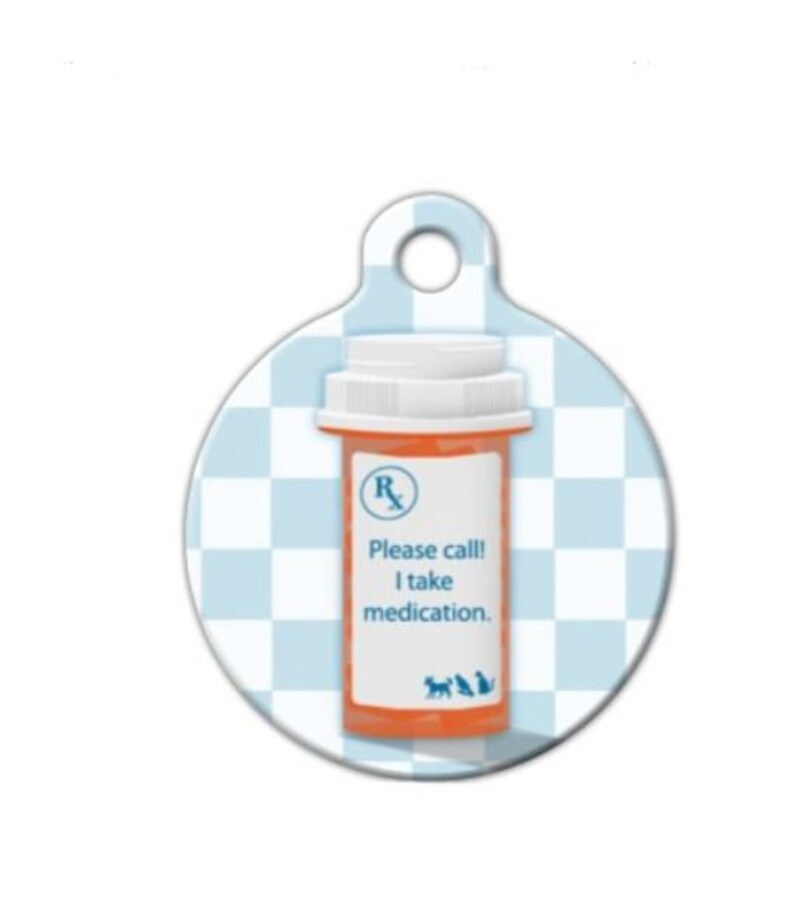 I Take Medication Pet ID Tag Medical Alert Dog Tag