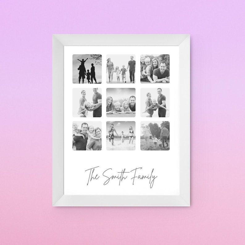 A4 Print Personalised New Mum Mother\u2019s Day Family Photo Gift Print Birthday Gift Gift For First Time Mum Mother\u2019s Day Keepsake