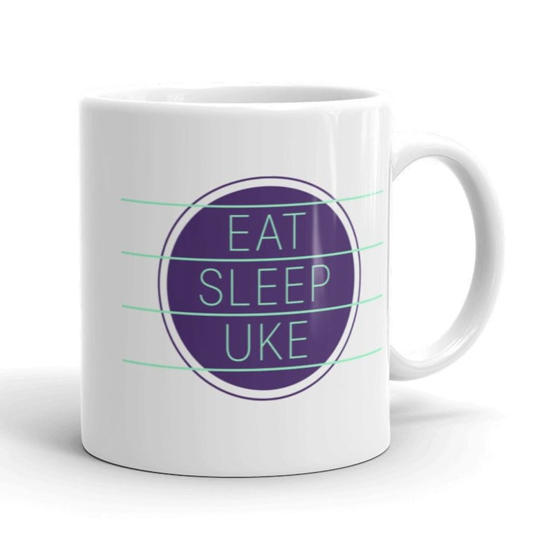 Ukulele Mug  Eat Sleep Uke  Great mug with image 0