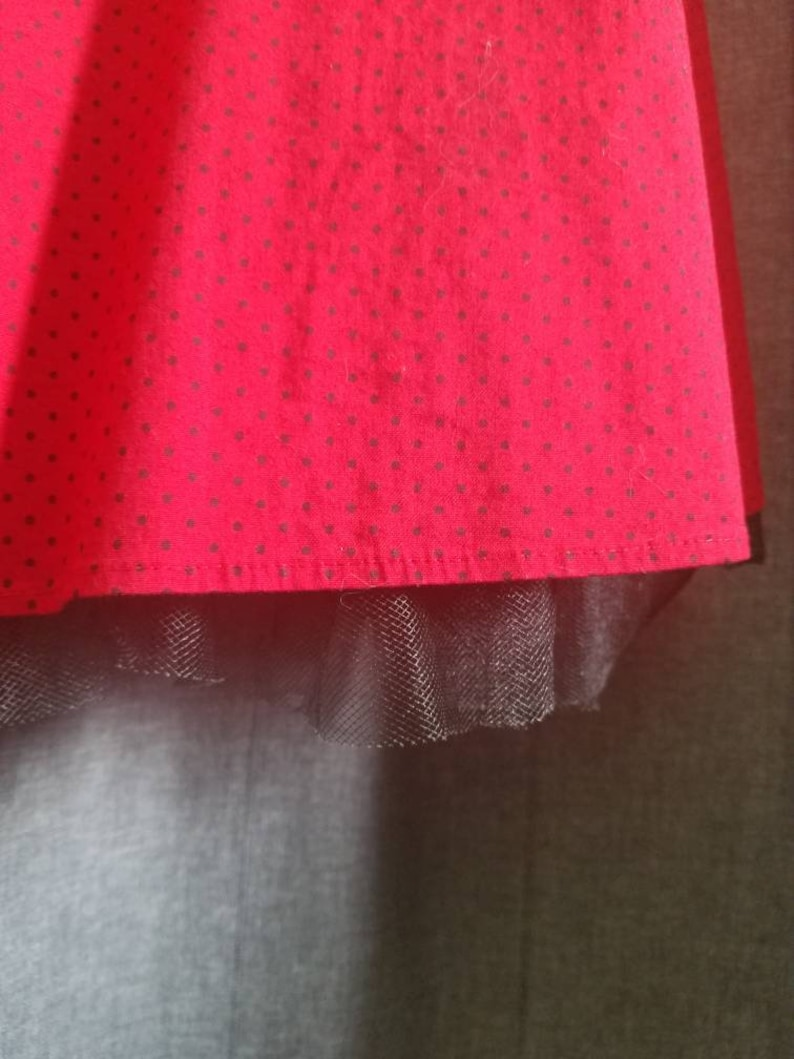 80s does 50s M Collection red polka dot dress SZ 5