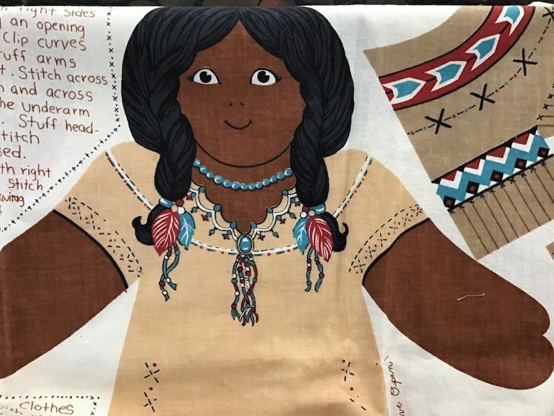 Joan Kessler set of three Indian dolls Concord fabrics