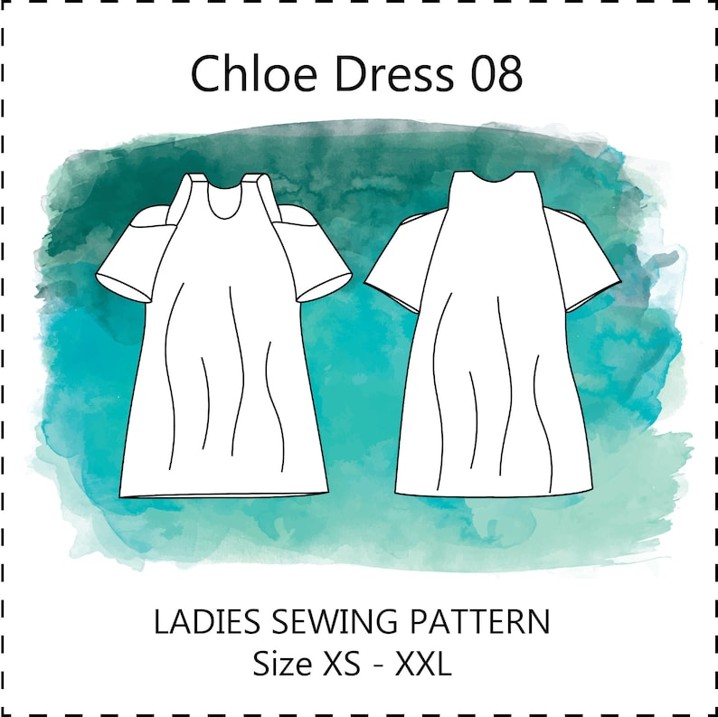 CHLOE DRESS and TOP pdf ladies sewing pattern cold off the image 0