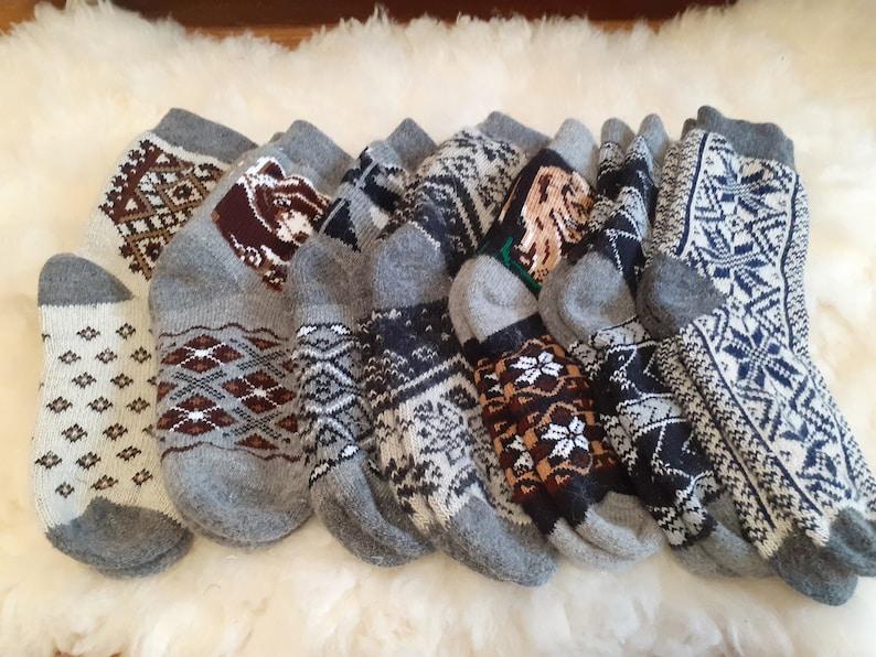 Warm Organic Socks,100/% Wool Socks,Him Christmas gift. Men/'s Hand Knitted Woolen Socks