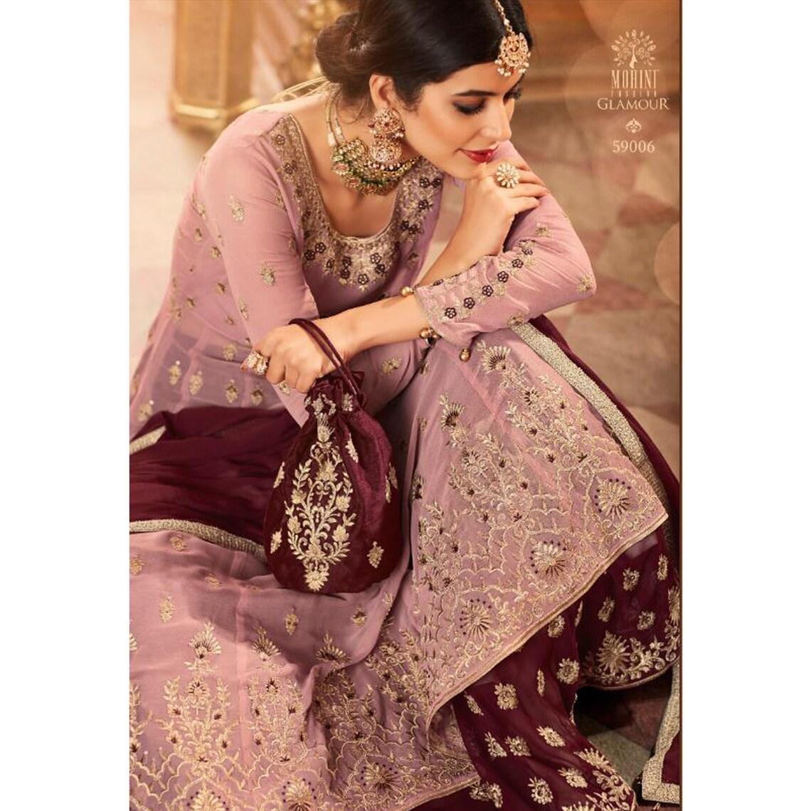 Indian Designer Floor Touch Anarkali Lengha Suit Heavy Worked