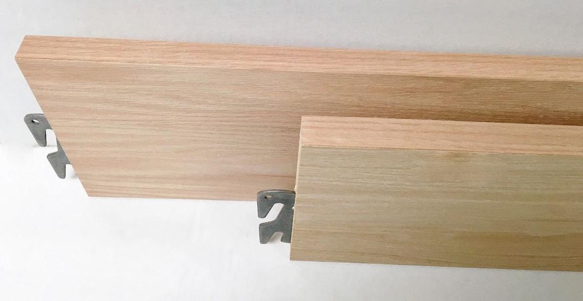 """Oak Rails - 76"""" Twin/Full Bed Rails Unfinished"""