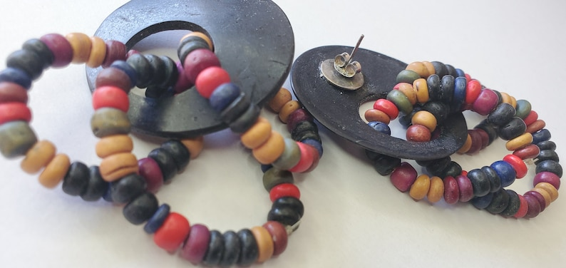 Unique Summer is coming Gift for Her Colorful Earrings Wood Casual