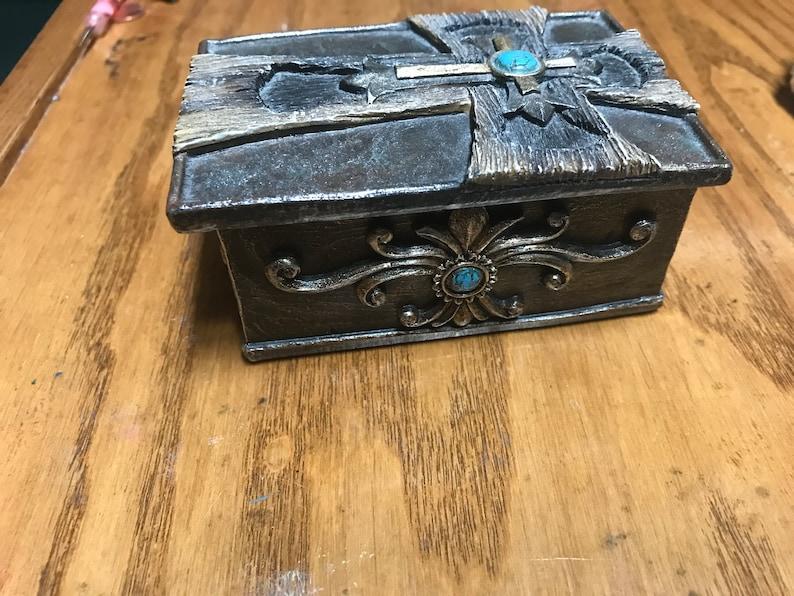 Cross Jade Jewelry Box