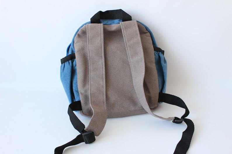 boy birthday gift cat toddler backpack handmade blue rucksack kindergarten