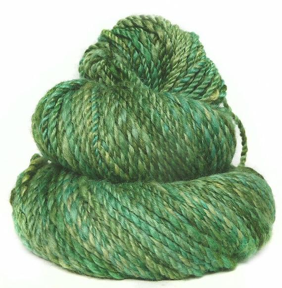 Handspun hand dyed Angora Merino /& silk yarn 152 Yards worsted 3.4 Oz