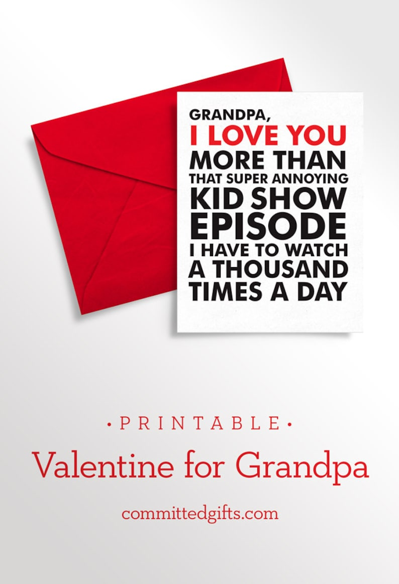 Printable Father's Day Card  Baby Card to Grandpa  Funny image 0