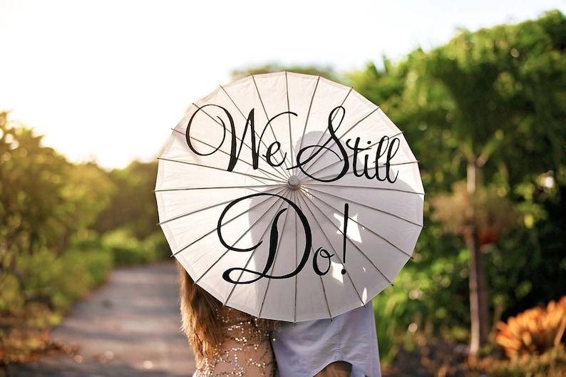 Wedding Parasol Umbrella Vow Renewal Anniversary Ceremony image 0