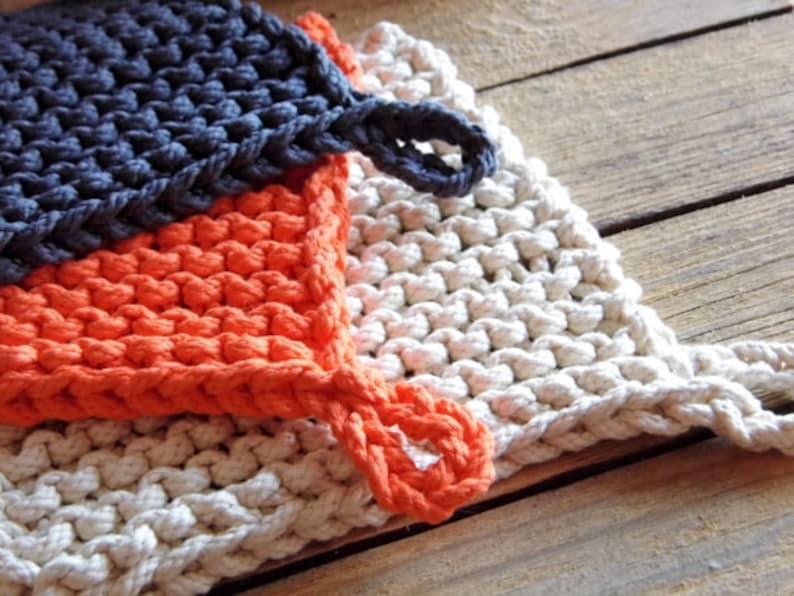 PDF KNITTING PATTERN easy knit rope potholder big stitches ...