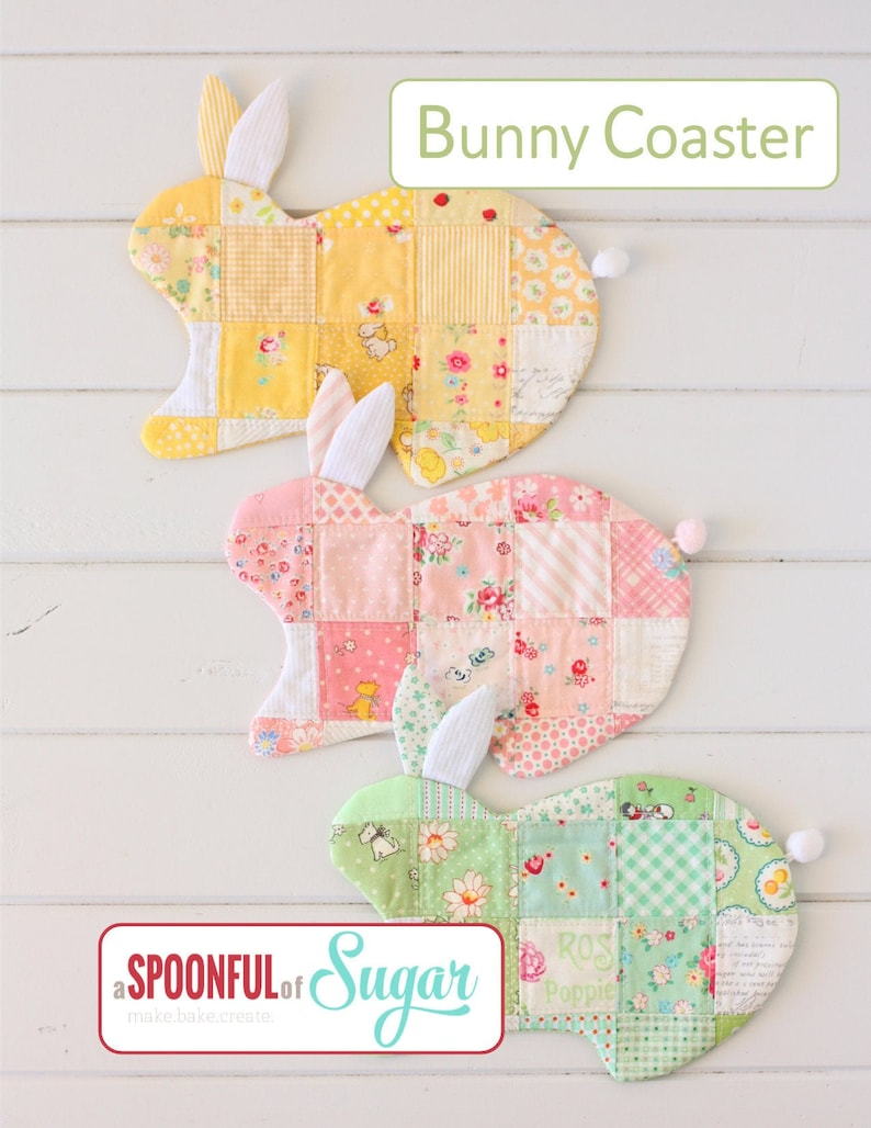 Bunny Coaster PDF Sewing Pattern image 0