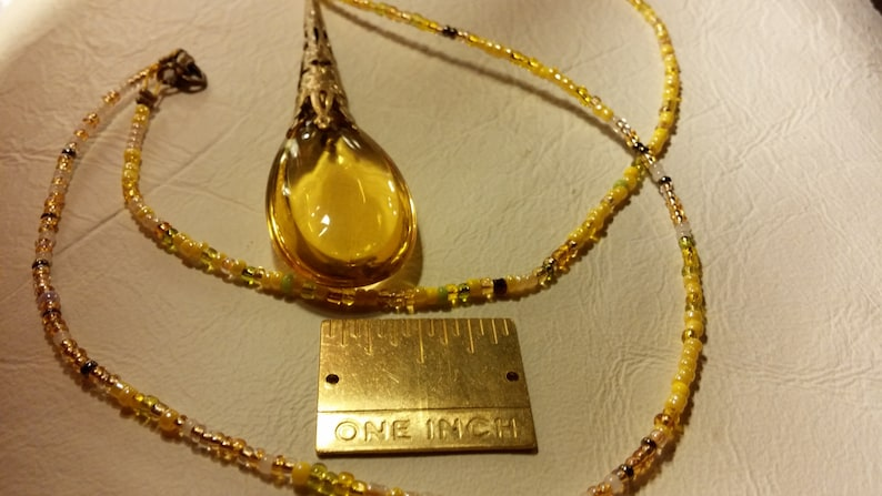 FALL CLEARANCE Golden Gem Pendant 84x21x9mm or 3.25in long image 0