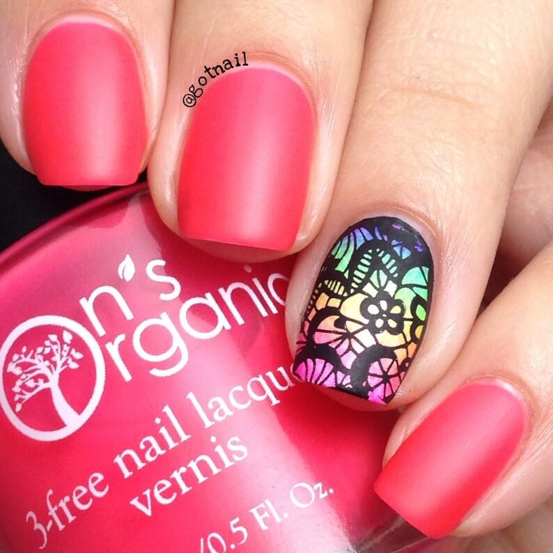 MATTE Pink Nail Polish  Neon Pink Nail Polish  Glow in the image 0