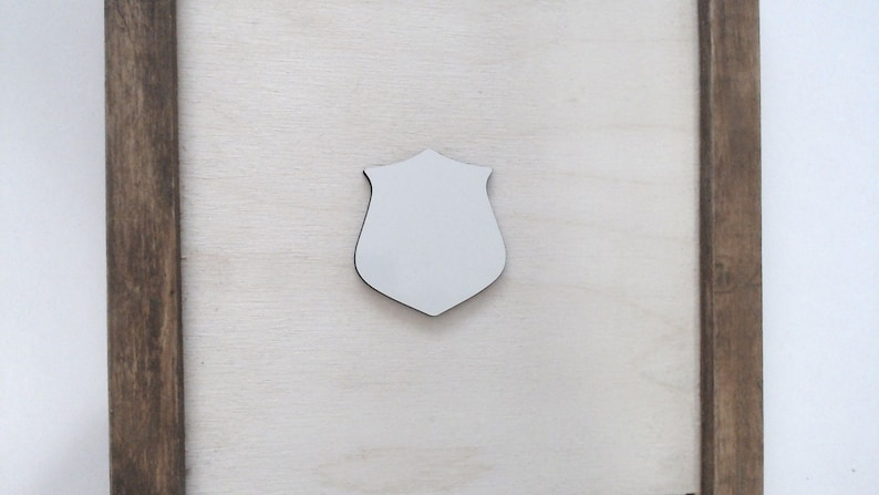 MDF Blanks Shield Police Badge Sublimation Blanks Bulk Cutout Blanks for Sublimation Printing