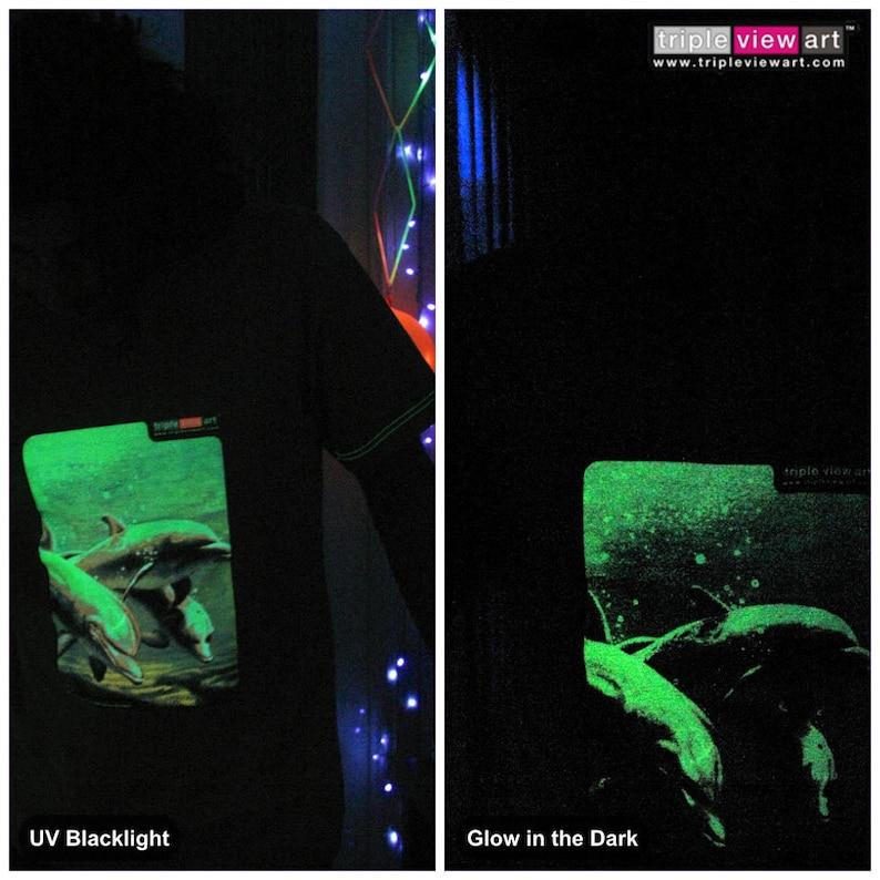 Dolphins UV Black Light Fluorescent & Glow In The Dark image 0