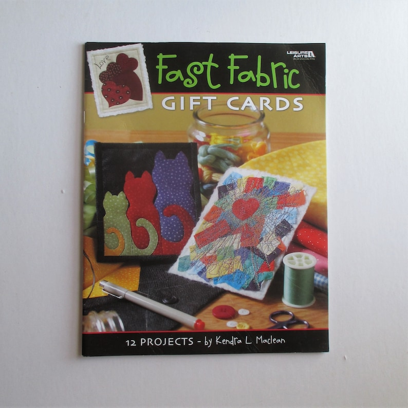 Fast Fabric Gift Cards booklet